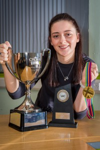Pictured is Ayla Foulis of Fife College, who won first place in the Crown Trade Apprentice Decorator of The Year 2016.